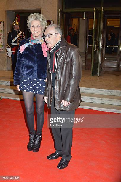 TV presenter Daniele Gilbert and Patrick Scemama attend '23rd Gala Pour L'Espoir 2015' Auction Show To Benefit Against Cancer Associations at Theatre...