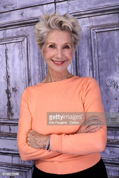 Presenter Daniele Gilbert poses during a portrait session in Paris France on