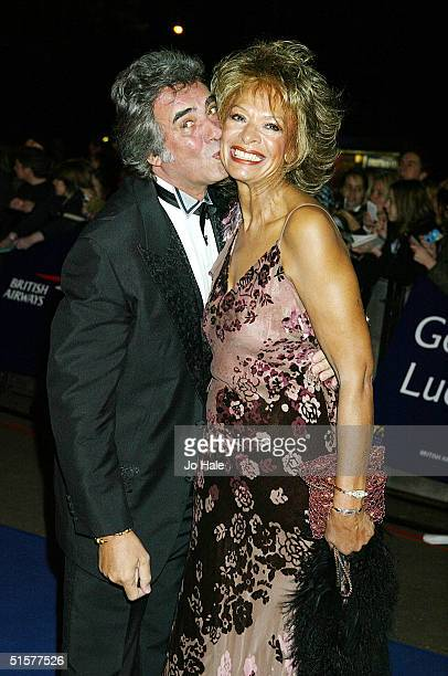 Presenter David Dickinson and wife Lorne Lesley arrive at the 10th Anniversary National Television Awards on October 26 2004 at the Royal Albert Hall...
