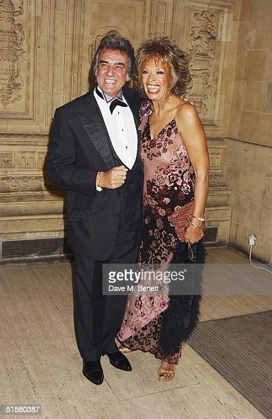TV presenter David Dickinson and wife Lorne Lesley arrive at the 10th Anniversary National Television Awards at the Royal Albert Hall on October 26...