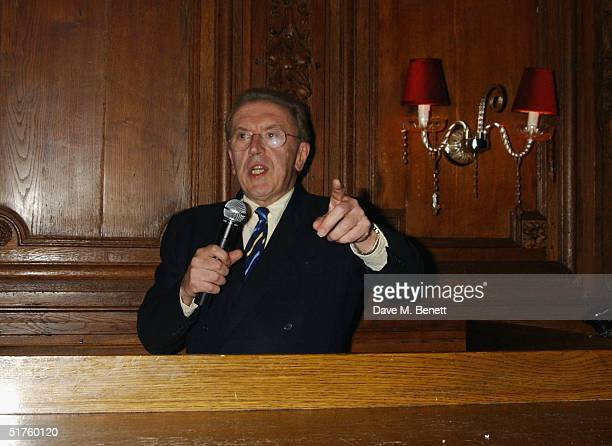 Presenter David Frost attends a screening of biopic, 'Not Only But Always', at Tramp Night Club, November 17 in London. The film, which will be...