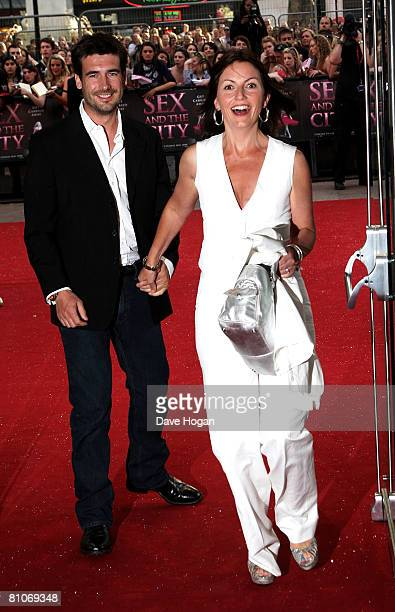 Presenter Davina McCall and husband Matthew Robertson arrive at the world premiere of 'Sex And The City' at the Odeon Leicester Square on May 12,...