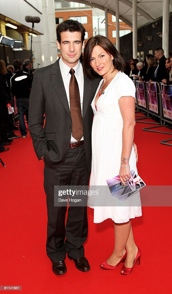 TV presenter Davina McCall and husband Matthew Robertson arrive at the Britain's Best 2008 awards at London Television Studios on May 18, 2008 in London, England. The award ceremony honours outstanding Britons in categories including business, art, television, music, film, sport and fashion.