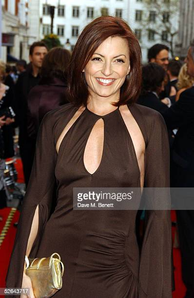TV presenter Davina McCall arrives at The Pioneer British Academy Television Awards at the Theatre Royal on April 17 2005 in London