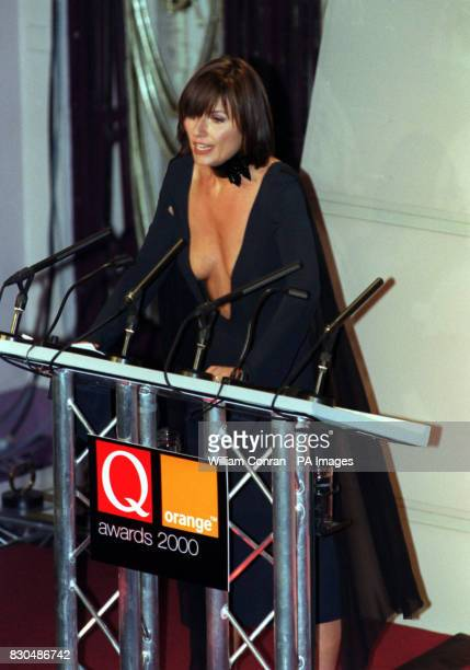TV presenter Davina McCall at the Park Lane Hotel central London presenting the Q Awards The event sponsored by music magazine Q is one of the...