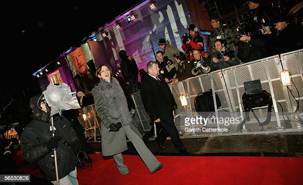 Presenter Davina McCall is seen outside the new Celebrity Big Brother house for the new series of the reality TV show, in Borehamwood on January 5,...