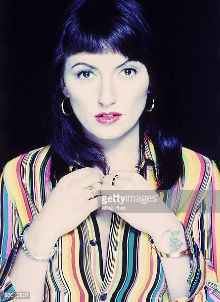 TV presenter Davina McCall poses for a studio portrait session in 1996 in London