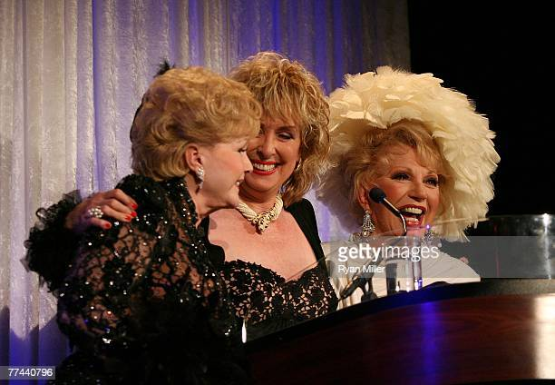 Presenter Debbie Reynolds Honoree Eileen O'Neill and Presenter Ruta Lee during the Thalians 52nd Anniversary Gala honoring Sir Roger Moore to raise...