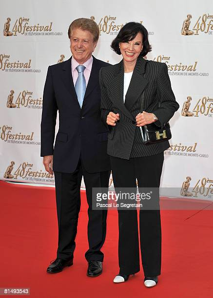 TV presenter Denise Fabre with her husband Francis Vandenhende attend the opening night of the 2008 Monte Carlo Television Festival held at Grimaldi...