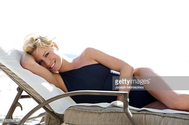 TV presenter Denise Van Outen is photographed for You Magazine on March 28 2007 in Los Angeles California