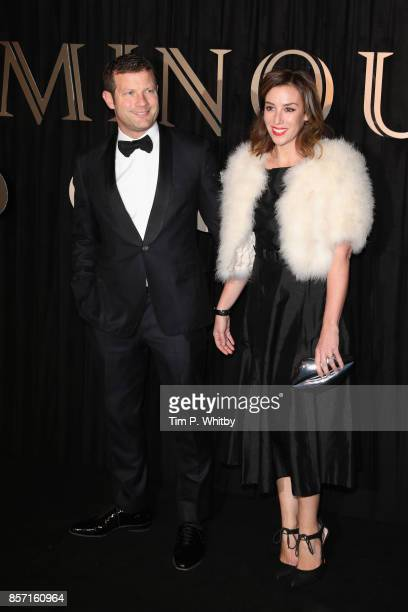 Presenter Dermot O'Leary and his wife Dee Koppang attend the BFI Luminous Fundraising Gala at The Guildhall on October 3 2017 in London England
