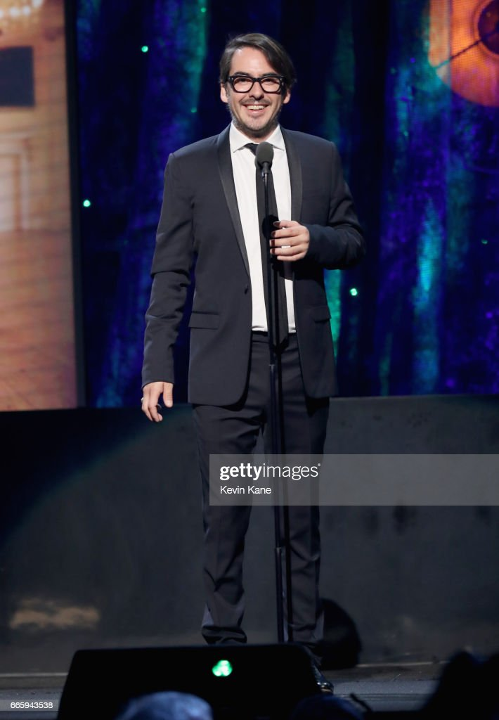 Presenter Dhani Harrison speaks onstage at the 32nd Annual Rock & Roll Hall Of Fame Induction Ceremony at Barclays Center on April 7, 2017 in New York City. Debuting on HBO Saturday, April 29, 2017 at 8:00 pm ET/PT