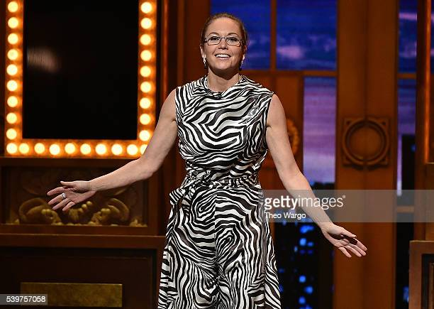 Presenter Diane Lane speaks onstage during the 70th Annual Tony Awards at The Beacon Theatre on June 12 2016 in New York City