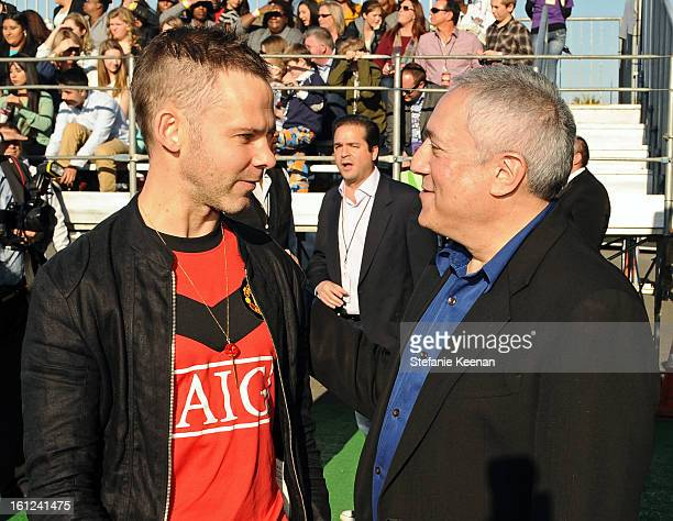 Presenter Dominic Monaghan and Cartoon Network Presidentt/COO Stuart Snyder attend the Third Annual Hall of Game Awards hosted by Cartoon Network at...