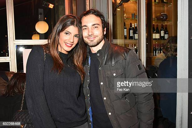 TV presenter Donia Eden and actor Mathieu BoujenahÊattend the Apero Tartiflette Party Hosted by Grand Seigneur Magazine at Bistrot Marguerite on...