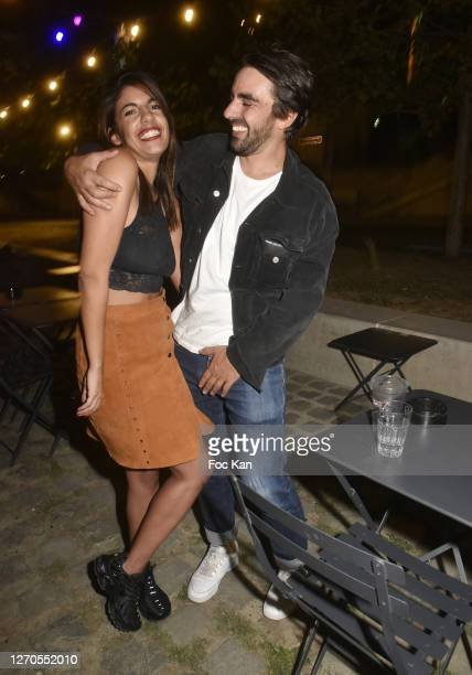 TV presenter Donia Eden from Canal Plus and composer Noe Lescalier attend Le Flon Flon Party Hosted By Geoffrey Gervais on September 03 2020 in Paris...