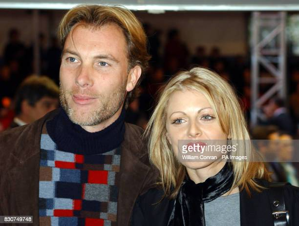 TV presenter Donna Air and boyfriend Damien Aspinall arrive for world premiere of 'Harry Potter and the Philosopher's Stone at the Odeon Leicester...