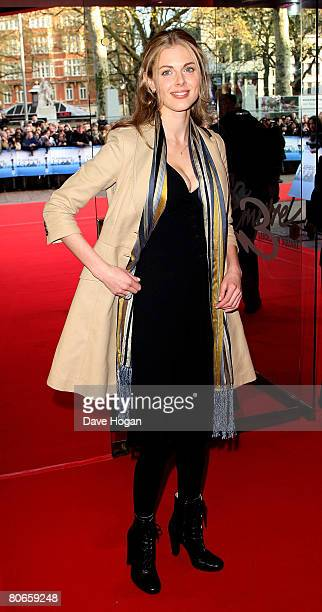 TV presenter Donna Air arrives at the UK premiere of 'Flashbacks of a Fool' at the Empire cinema Leicester Square on April 13 2008 in London England