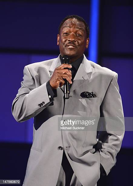 Presenter Donnie Simpson speaks onstage during the 2012 BET Awards at The Shrine Auditorium on July 1 2012 in Los Angeles California