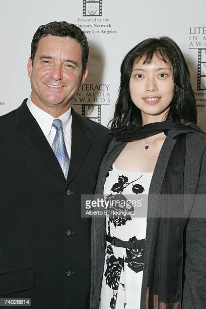 Presenter Dr Bruce Hensel and Dr Katie Zhu arrive at the Literacy Networks' LIMA awards dinner on April 29 2007 in Los Angeles California