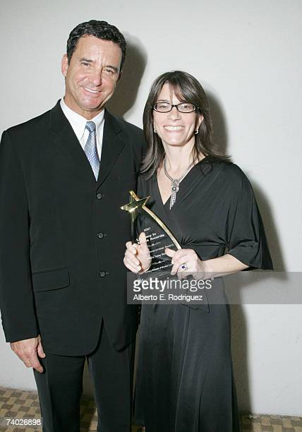 Presenter Dr Bruce Hensel and Honoree Today show producer Jaclyn Levin attend the Literacy Networks' LIMA awards dinner on April 29 2007 in Los...