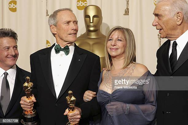 TELECAST*** Presenter Dustin Hoffman Best Director Winner for Million Dollar Baby and Producer Clint Eastwood Presenter Barbara Streisand and...