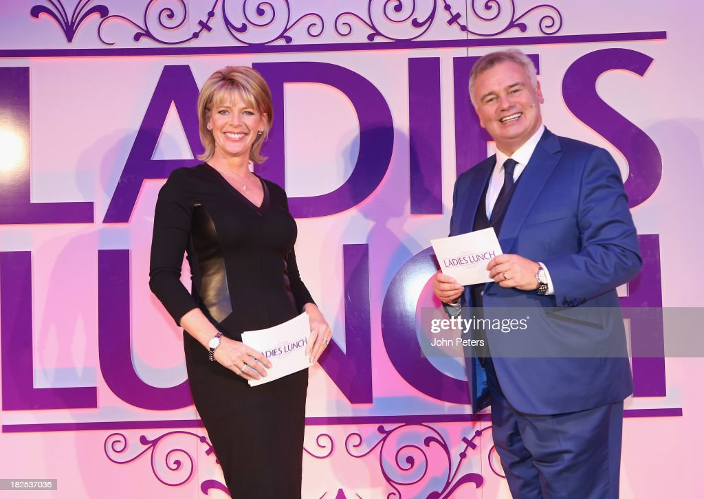 TV presenter Eamonn Holmes and his wife Ruth Langsford host the Manchester United Foundation Ladies Lunch, raising money for The Christie Charity and Francis House Children's Hospice, at Old Trafford on September 30, 2013 in Manchester, England.