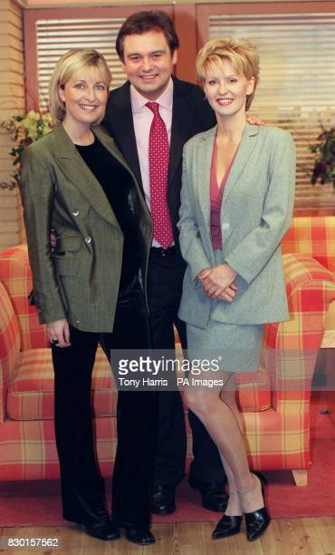 GMTV presenter Eamonn Holmes with Esther McVey who is joining the breakfast station when Fiona Phillips takes maternity leave Fiona who is married to...