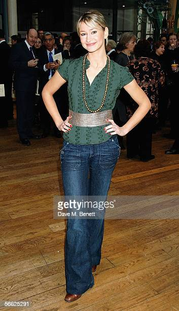 TV presenter Ellie Crisell attends the Critics' Circle National Dance Awards 2005 rewarding the best talents of last year at the Royal Opera House on...