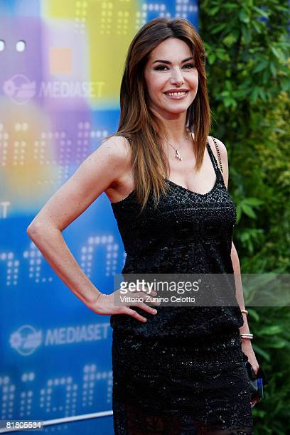 Presenter Emanuela Folliero attends Mediaset TV programming presentation on July 2 2008 in Milan Italy