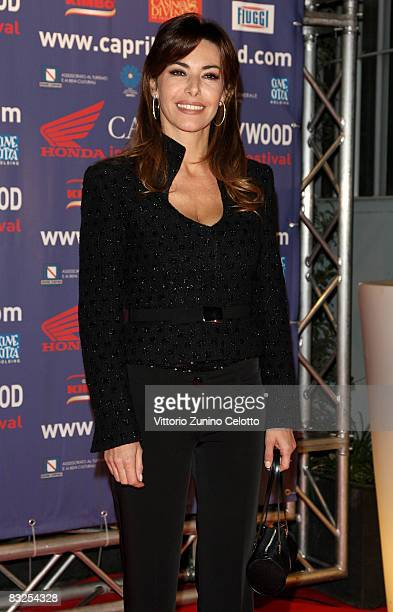 Presenter Emanuela Folliero attends the Capri Hollywood Film Festival dinner party at Old Fashion Cafe on October 13 2008 in Milan Italy