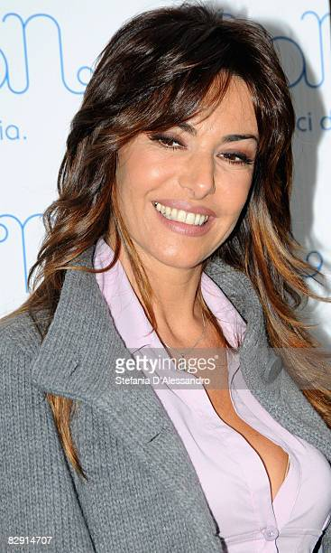 Presenter Emanuela Folliero attends The Nanan store opening on September 18 2008 in Milan Italy