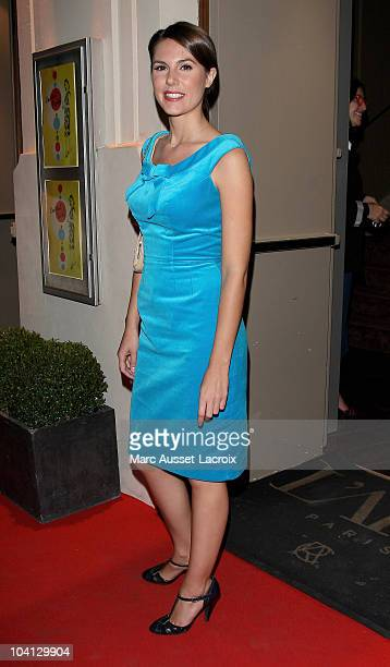 TV presenter Emilie Besse poses at Canal Private Party at L'Arc on September 15 2010 in Paris France