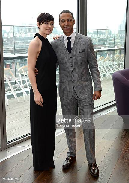Presenter Emma Willis and Marvin Humes attend the launch of 'The Voice UK' Series 4 at The Mondrian Hotel on January 5 2015 in London England