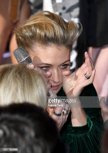 Presenter Emma Willis sheds tears as the Big Brother Final 2018 comes to an end at Elstree Studios on November 5 2018 in Borehamwood England
