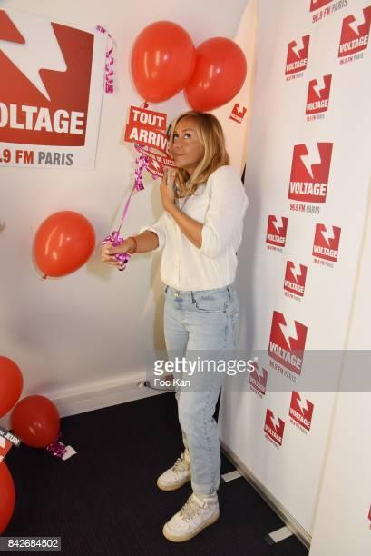 TV presenter Enora Malagre attends The Jordan Guisnel Radio Voltage Cocktail At Les Indes Radio Rue De Lubeck on September 4 2017 in Paris France