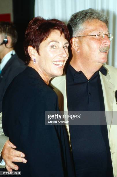 TV presenter Erika Berger with husband Richard Mahkorn at the BUNTE Gala evening event in Duesseldorf Germany 2001