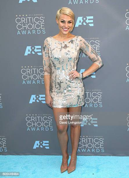 TV presenter Erin Ashley Darling attends The 21st Annual Critics' Choice Awards at Barker Hangar on January 17 2016 in Santa Monica California