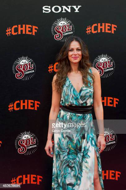 TV presenter Eva Gonzalez attends 'Chef' Madrid premiere at the Callao cinema on July 24 2014 in Madrid Spain