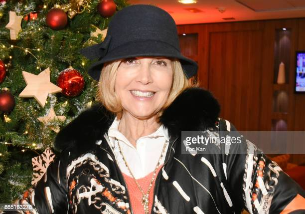 TV presenter Fabienne Amiach attends the launch of Nelson Montfort's new book 'Sport' at Hotel Courtyard Mariott on December 3 2017 in Paris France