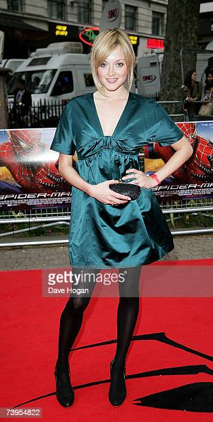 TV presenter Fearne Cotton arrives at the UK premiere of SpiderMan 3 at Odeon Leicester Square on April 23 2007 in London England