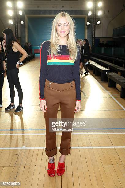 Presenter Fearne Cotton attends the Julien Macdonald show during London Fashion Week Spring/Summer collections 2016/2017 on September 17 2016 in...