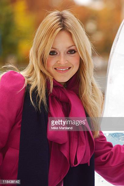 TV Presenter Fearne Cotton celebrates being named Princess of Cool' in a British Airways survey by unveiling a lifesize ice sculpture of her self at...