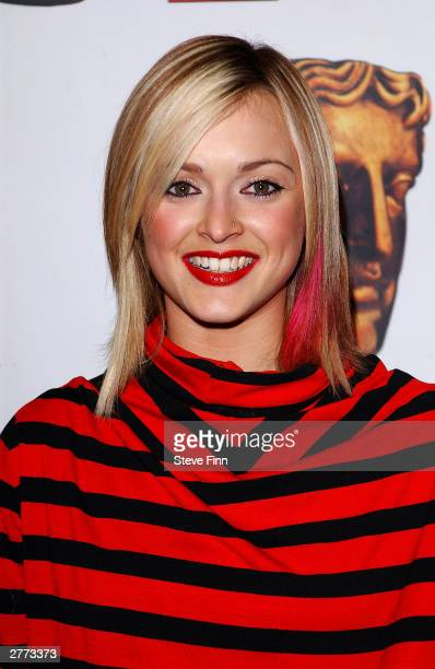 Presenter Fearne Cotton poses in the pressroom at the British Academy Children's Film And Television Awards in association with The Lego Company at...