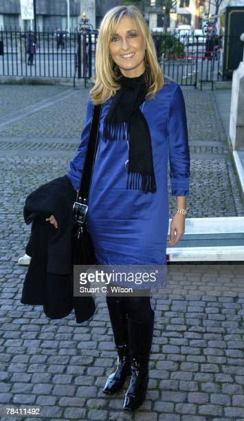 Presenter Fiona Phillips arrives for the Womans Own Children Of Courage Awards at Westminster Abbey on December 12 2007 in London England