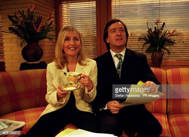 GMTV presenter Fiona Phillips was joined on the sofa by a new cohost her husband and GMTV reporter Martin Frizell who replaced Eamonn Holmes who is...
