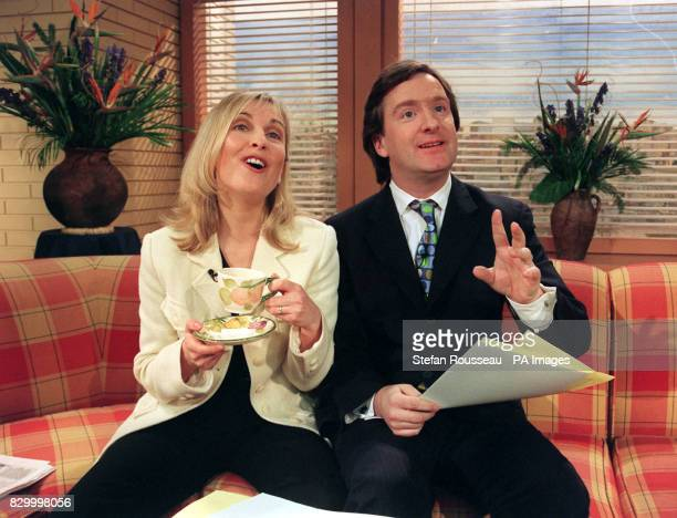 GMTV presenter Fiona Phillips was joined on the sofa with a new cohost today her husband and GMTV reporter Martin Frizell who replaced anchorman...