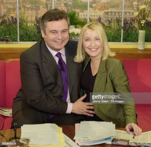 GMTV presenter Fiona Phillips with cohost Eamonn Holmes during the show It was her last prgramme before she takes maternity leave for her second...