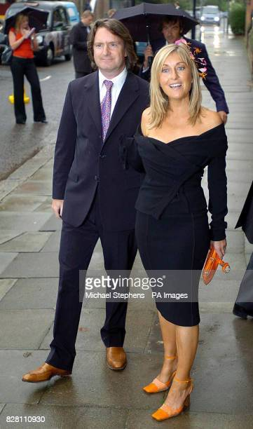 GMTV presenter Fiona Phillips with husband Martin Frizell for Kate Garraway's wedding to Derek Draper at St Mary'sthe Virgin in Primrose Hill North...