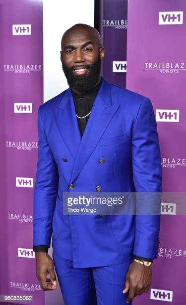 Presenter Football safety Malcolm Jenkins attends VH1 Trailblazer Honors 2018 at The Cathedral of St John the Divine on June 21 2018 in New York City